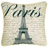 "Paris Eiffel Tower 18"" Square Decorative Printed Pillow"