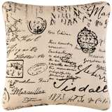 "Post Card 18"" Square Decorative Printed Pillow"