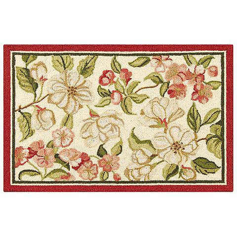 Custis Garden 2'x3' Hand Hooked Wool Rug