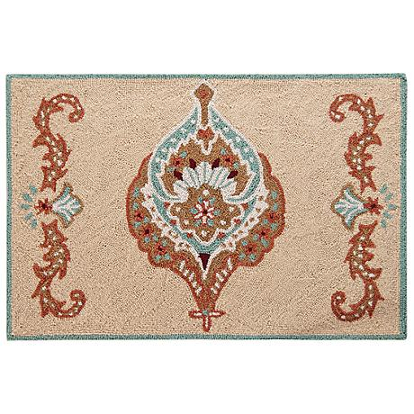 Mandalay 2'x3' Hand Hooked Wool Rug