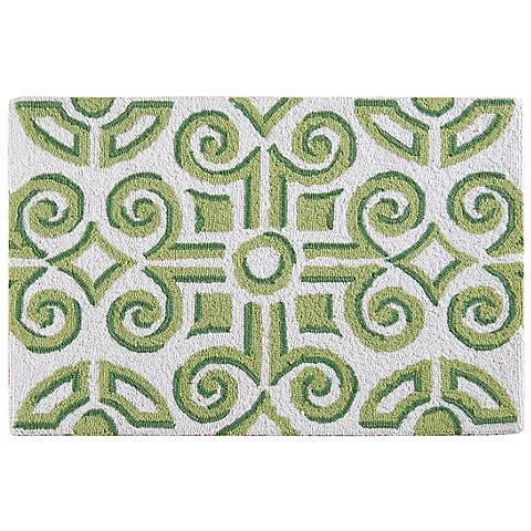 Boxwood Abbey 2'x3' Hand Hooked Wool Rug