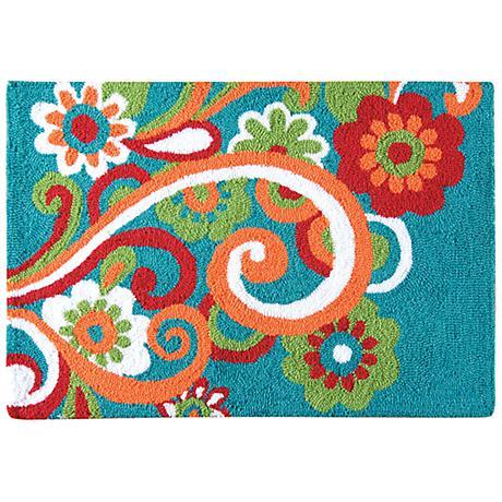 Lola 2'x3' Hand Hooked Wool Rug
