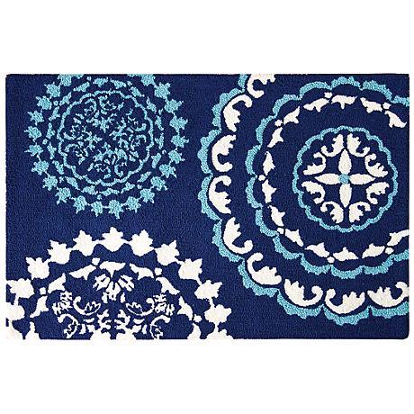 Zarina 2'x3' Hand Hooked Wool Rug