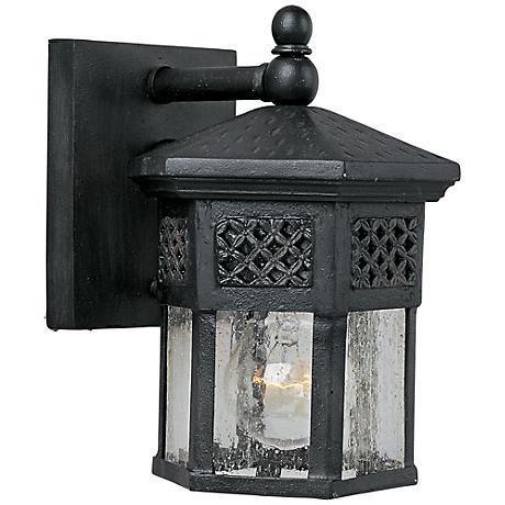 "Maxim Scottsdale 8 1/2"" High Black Outdoor Wall Light"