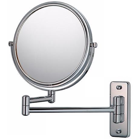 "Aptations Swing Arm Silver Chrome 7 3/4"" Wide Vanity Mirror"