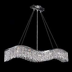 James R Moder 5 Light Crystal Wave Bar With Icicles