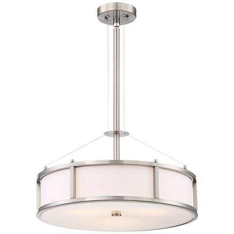 "Humbert Nickel 3-Light 20"" Wide Round Pendant Chandelier"