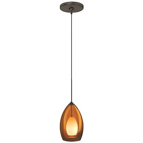 Fire Amber Murano Glass Bronze Tech Lighting Mini Pendant