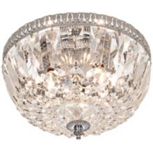 James R. Moder Handcut Crystal Silver Ceiling Fixture