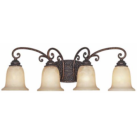 "Amherst Collection Burnt Umber 30"" Wide Bathroom Wall Light"