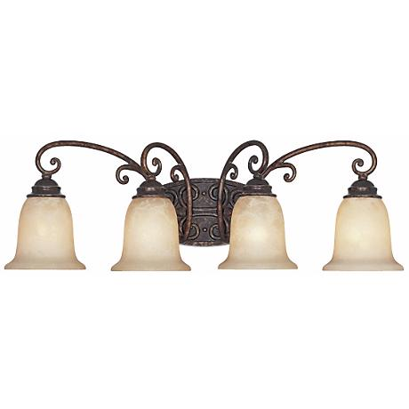 """Amherst Collection Burnt Umber 30"""" Wide Bathroom Wall Light"""