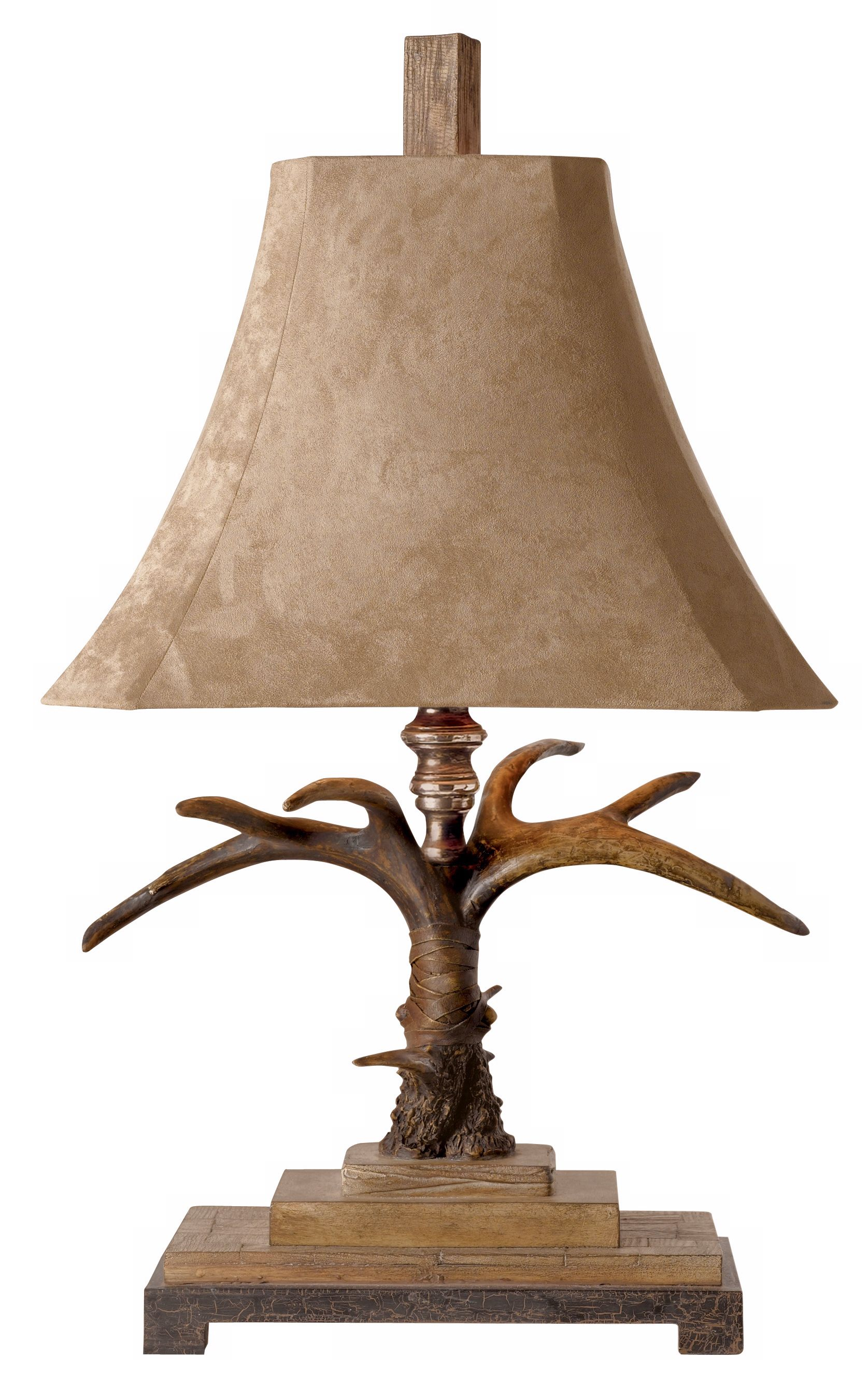 Lovely Uttermost Faux Antler Suede Table Lamp
