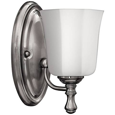 "Hinkley Shelly 9 1/2"" High Brushed Nickel Wall Sconce"