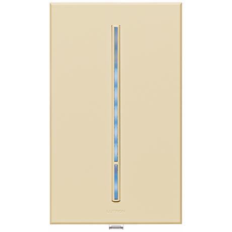Lutron Vierti Blue LED Light Almond Companion Control