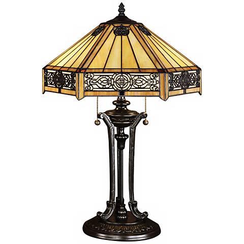 Quoizel Indus Tiffany Table Lamp