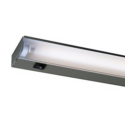 """Fluorescent 34"""" Wide Silver Under Cabinet Light by Juno"""