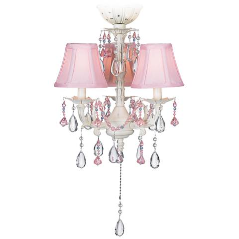 Pretty In Pink Pull Chain Ceiling Fan Light Kit 53567