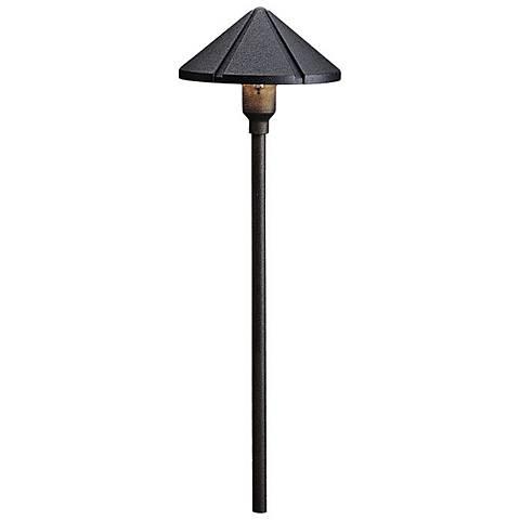 Kichler Textured Black Cone Low Voltage Landscape Light 53707 Lamps Plus