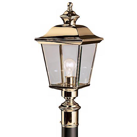"Kichler Solid Brass 22"" High Outdoor Post Light"