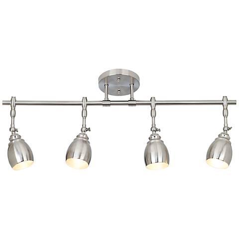 elm park led brushed steel 4 light fixture 53787 7v915 lamps plus. Black Bedroom Furniture Sets. Home Design Ideas