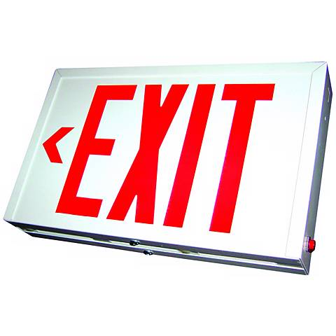 Red LED Double-Face Exit Sign with Battery Backup