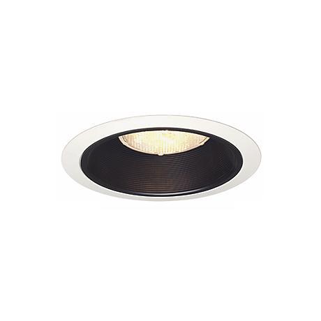 "Juno 6"" Line Voltage Black Baffle Recessed Light Trim"