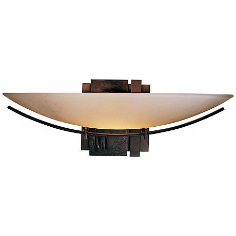 """Oval Impressions Stone Glass 16 1/2"""" Wide Wall Sconce"""