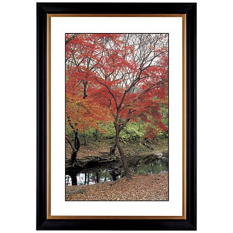 "Red Autumn Giclee 41 3/8"" Wide Wall Art"