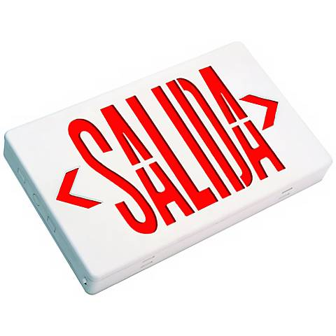 Red Salida Exit Sign Faceplate in Spanish