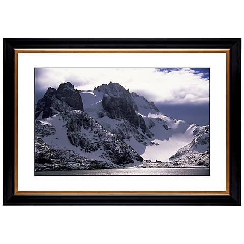 "Icy Mountain View Giclee 41 3/8"" Wide Wall Art"