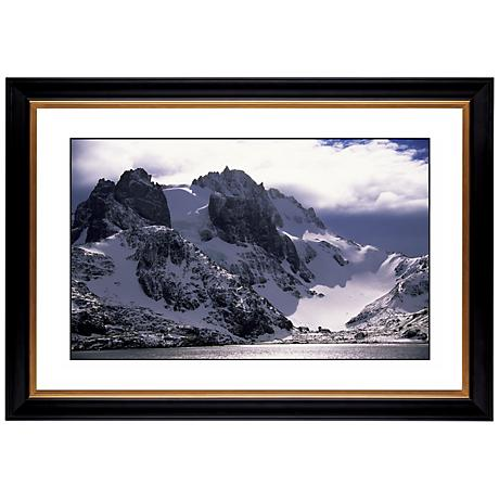 """Icy Mountain View Giclee 41 3/8"""" Wide Wall Art"""