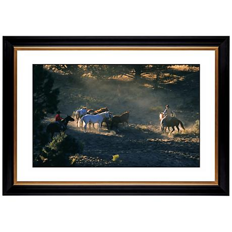 """Mountain Round Up Giclee 41 3/8"""" Wide Wall Art"""