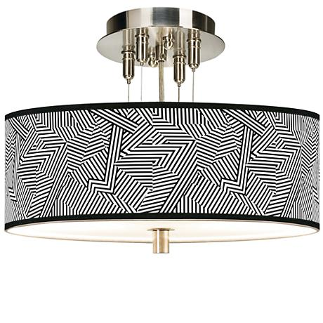 """Labyrinth Giclee 14"""" Wide Ceiling Light"""
