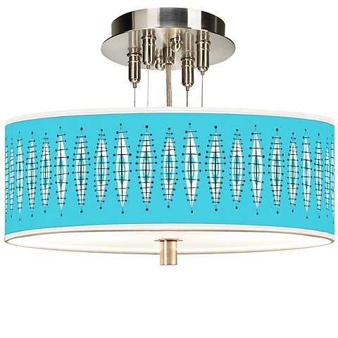 "Vibraphonic Bounce Giclee 14"" Wide Ceiling Light"