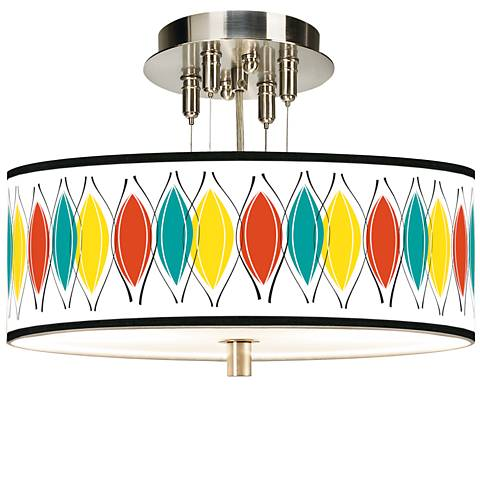 "Harmonium Giclee 14"" Wide Ceiling Light"