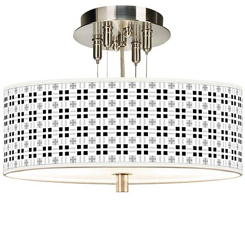 "Quadrant Giclee 14"" Wide Ceiling Light"