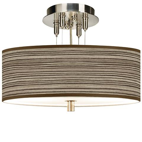"Cedar Zebrawood Giclee 14"" Wide Ceiling Light"