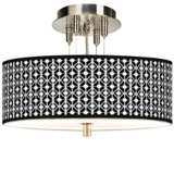 "Matrix Giclee 14"" Wide Ceiling Light"