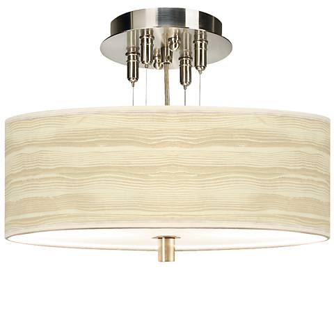 "Birch Blonde Giclee 14"" Wide Ceiling Light"