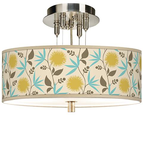 "Seedling by thomaspaul Dahlia 14"" Wide Ceiling Light"