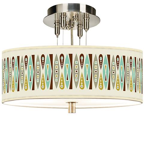"Vernaculis II Giclee 14"" Wide Ceiling Light"