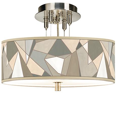 "Modern Mosaic I Giclee 14"" Wide Ceiling Light"