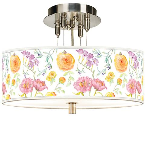 "Spring Garden Giclee 14"" Wide Ceiling Light"