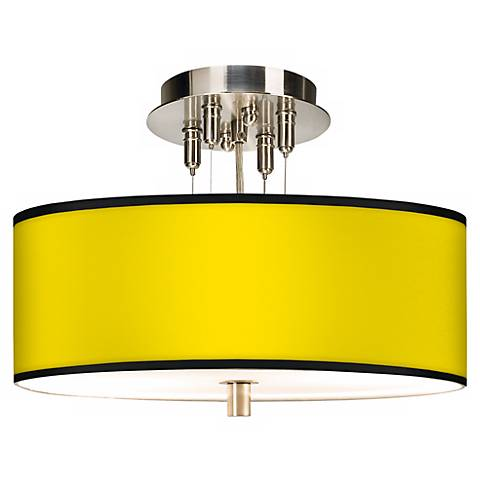 "All Yellow Giclee 14"" Wide Ceiling Light"