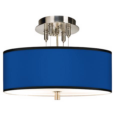 """All Blue Giclee 14"""" Wide Ceiling Light"""