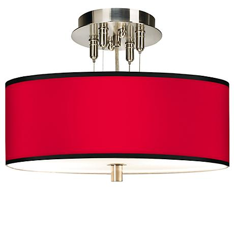"All Red Giclee 14"" Wide Ceiling Light"