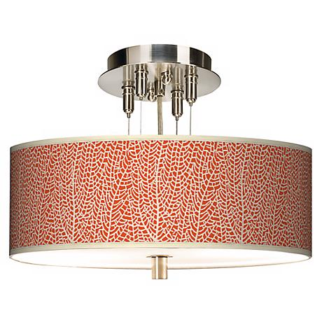 """Stacy Garcia Seafan Coral Giclee 14"""" Wide Ceiling Light"""