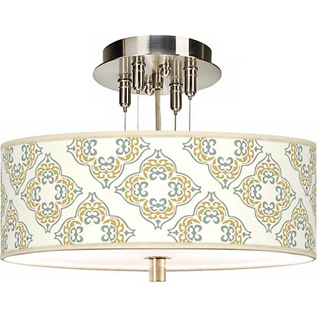 "Aster Ivory Giclee 14"" Wide Ceiling Light"