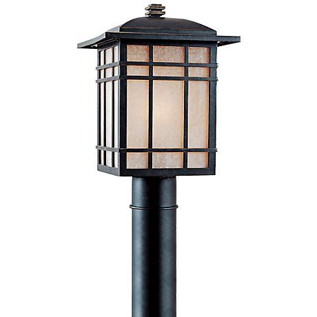 """Quoizel Hillcrest 17"""" High Bronze Outdoor Post Light"""
