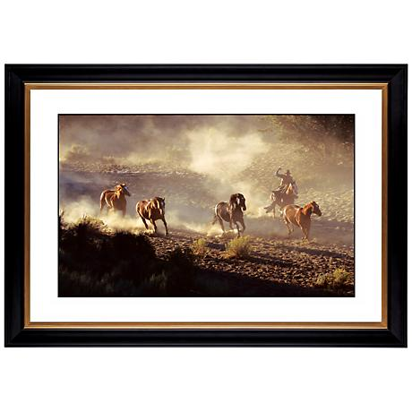 """Dusty Round Up Giclee 41 3/8"""" Wide Wall Art"""